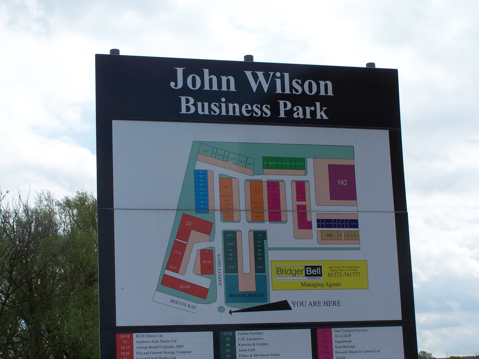 John Wilson Business Park site board